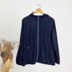 Northern Reflections | Navy Packable Windbreaker M